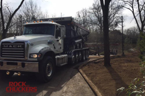 Delivering topsoil at various locations for our friends at The Cincinnati Zoo.